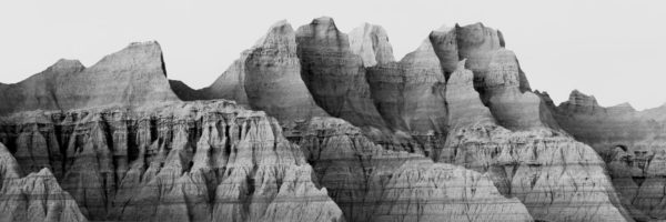 Eroded pinnacles of the badlands