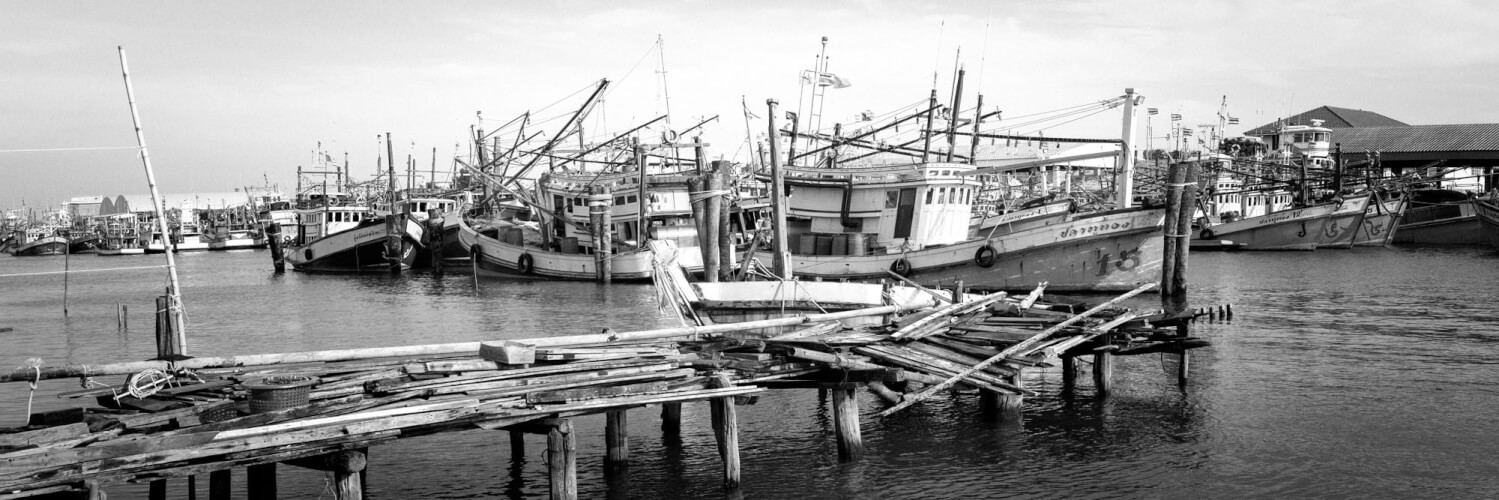 Fishing harbour in thailand