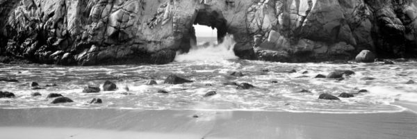 Natural arch on the beach