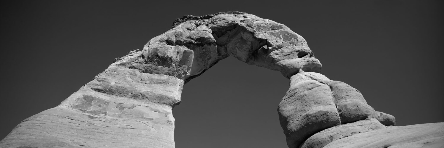 Natural Entrada Sandstone arch in arches national park
