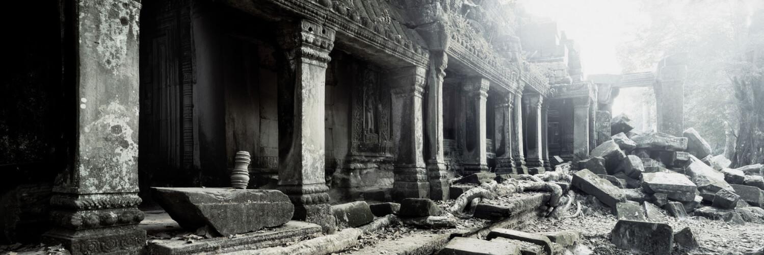Ta Prohm temple ruins in ankor wat