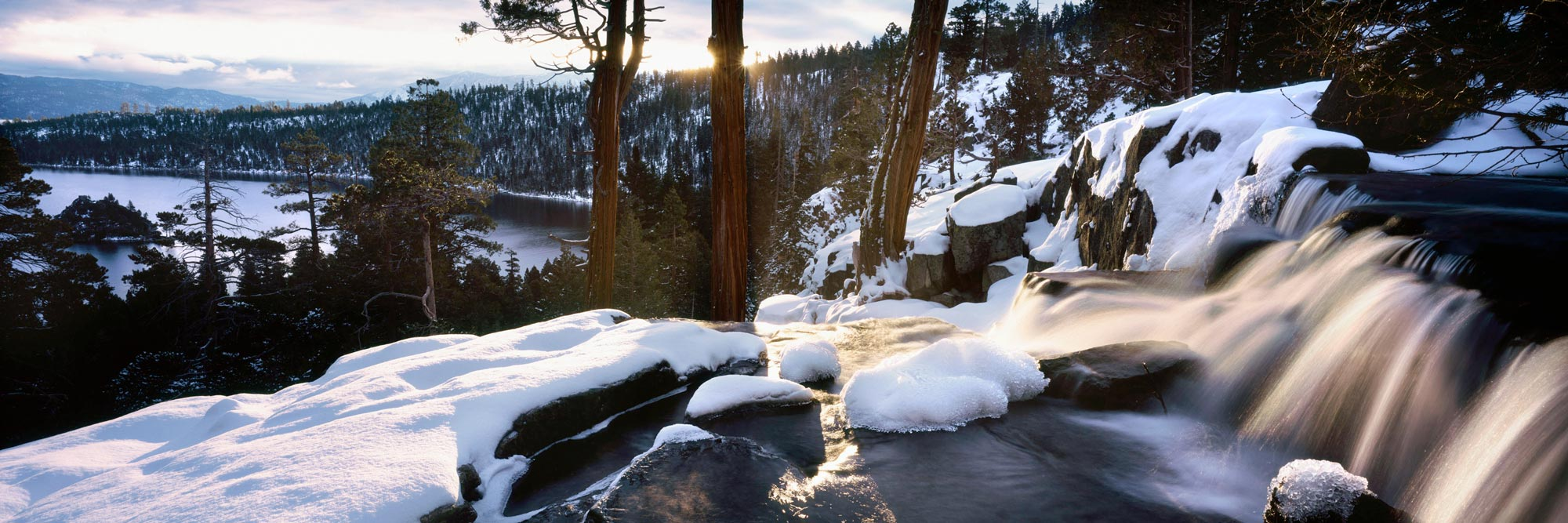 Eagle falls lake tho waterfall