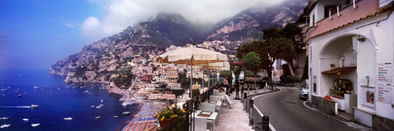 Positano Town on the amalfi coast in italy