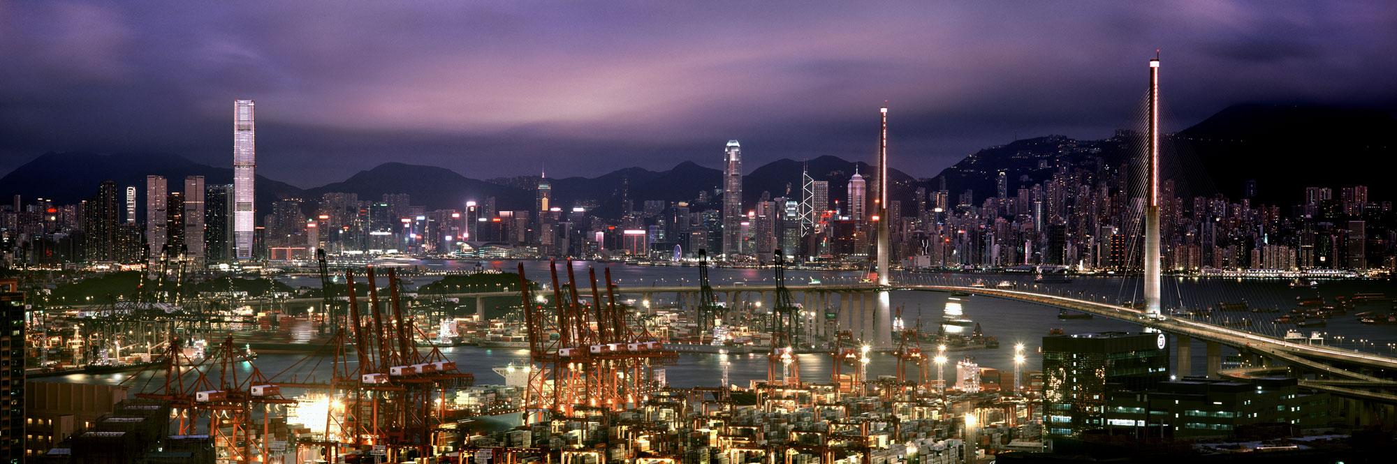 Hong Kong docks and the Skyline