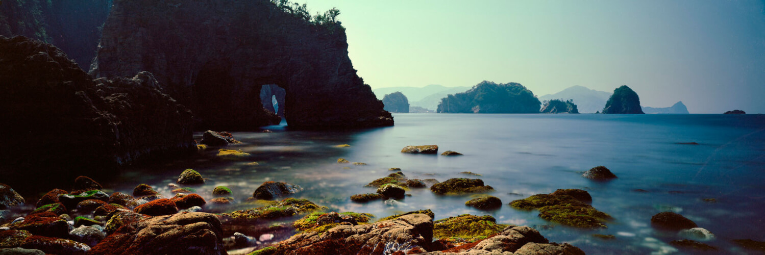 Rocky coast of the Izu peninsula Japan