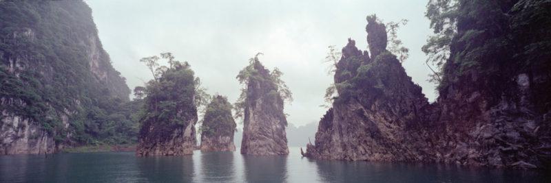 limestone karst formations of Ratchaprapha lake