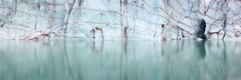Edge of a glacier in canada