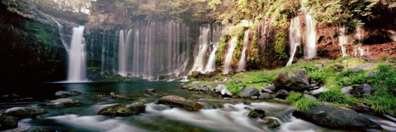 Shiraito Fallsl in Fujinomiya japan