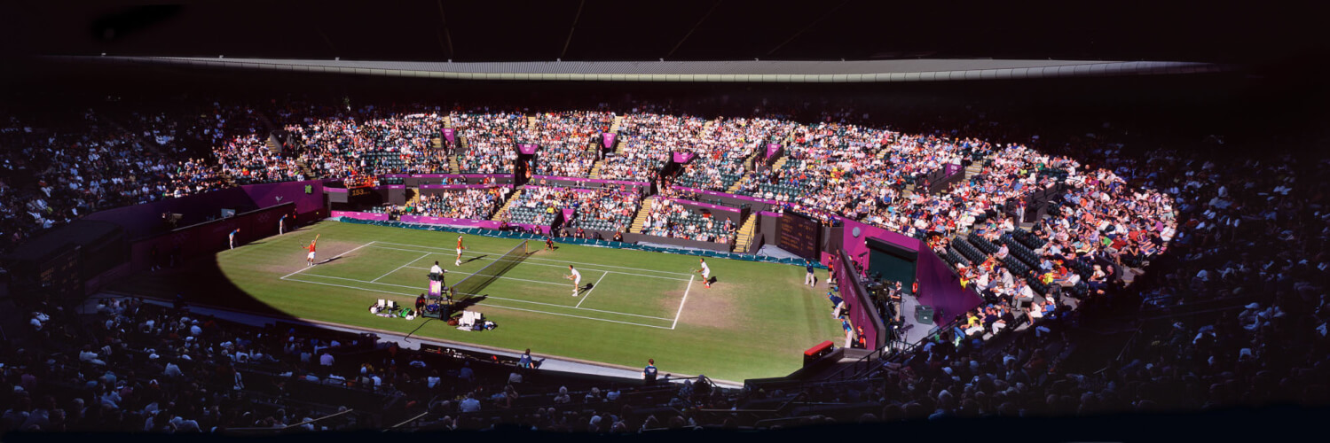 Wimbledon Court 1 doubles tennis match
