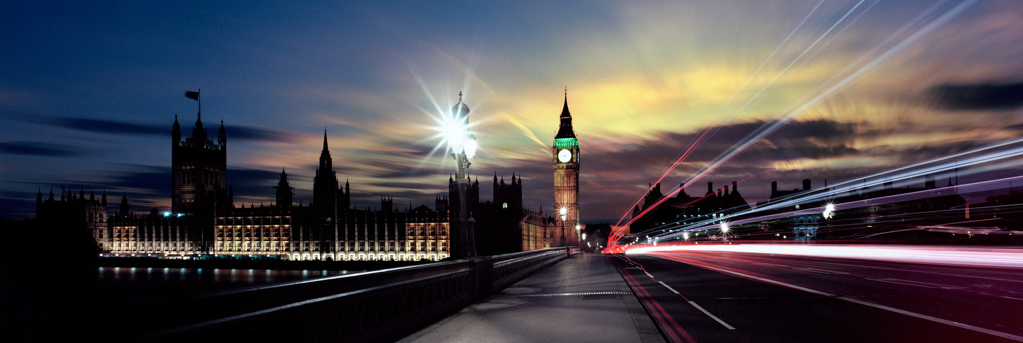 Panoramic print of Westminster bridge