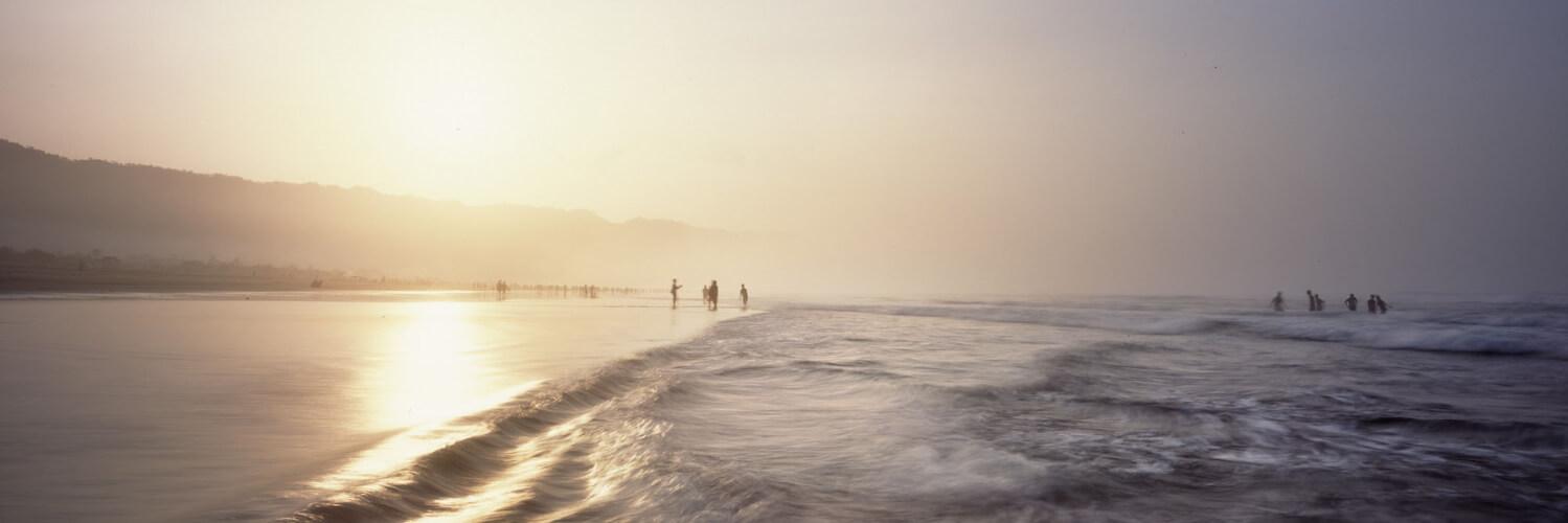 Sunrise at Parangritis Beach in Indonesia