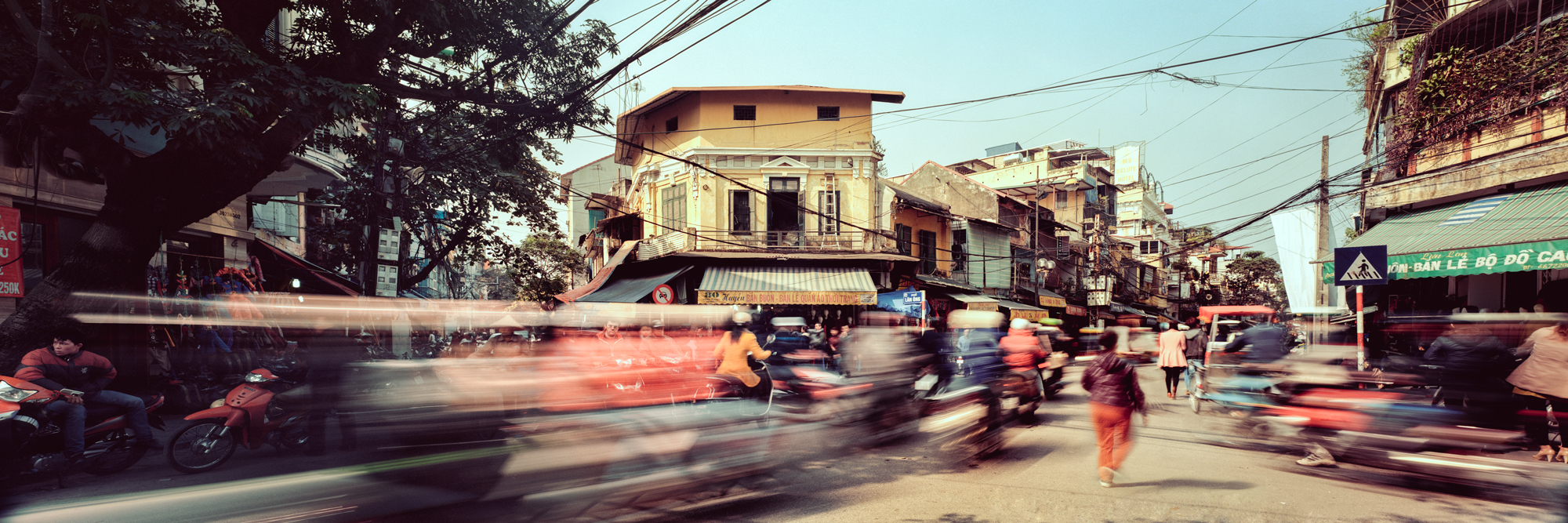 Busy street in Hanoi Old Town
