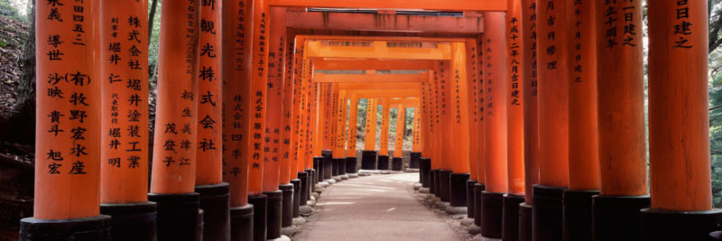 Red Shrines in Kyoto