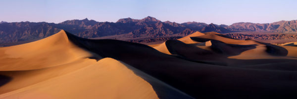 Panoramic print of sand dunes