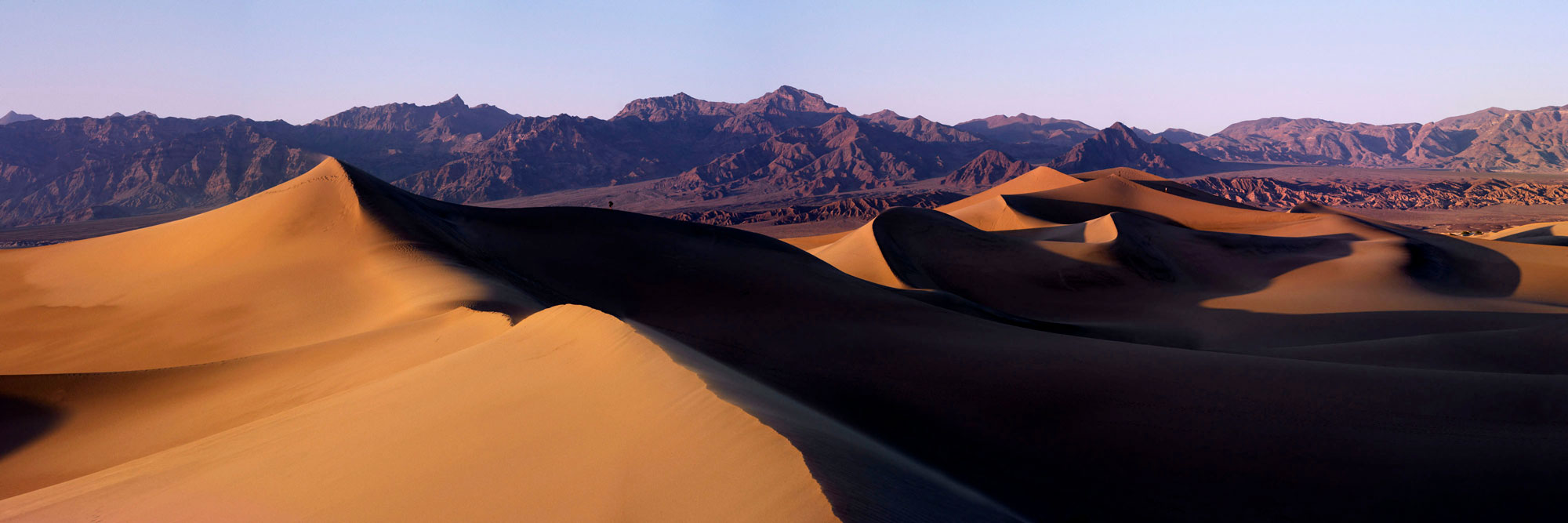 Panoramic print of sand dunes