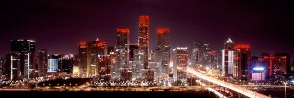 Beijing City Lights at Night