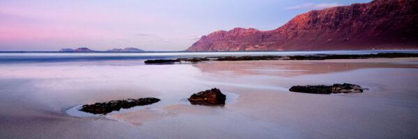 Canary Island beach at sunset