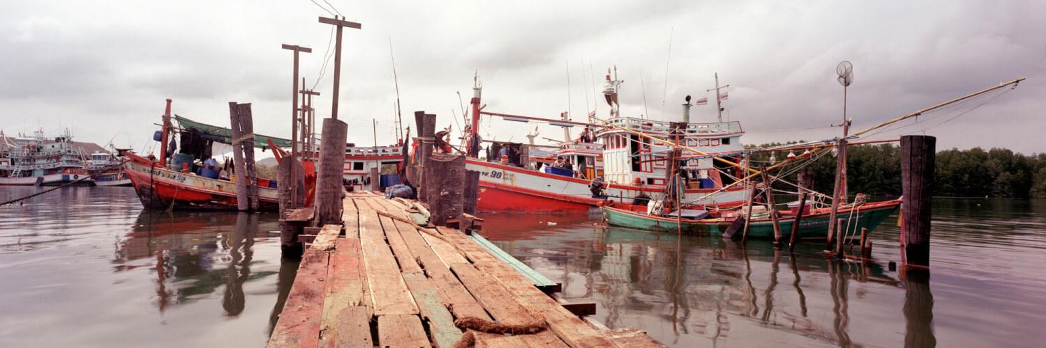 Quaint Fishing pier thailand