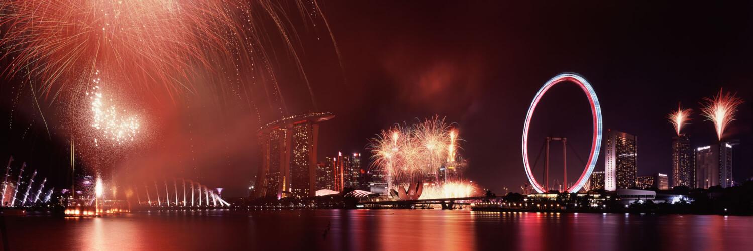 Singapore national day parade fireworks