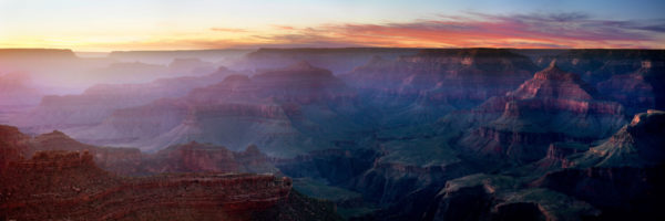 Sunset at the amazing grand canyon national park USA