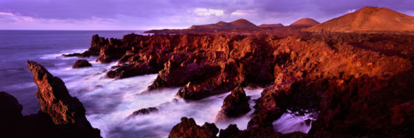 The volcanic coast of the canary islands