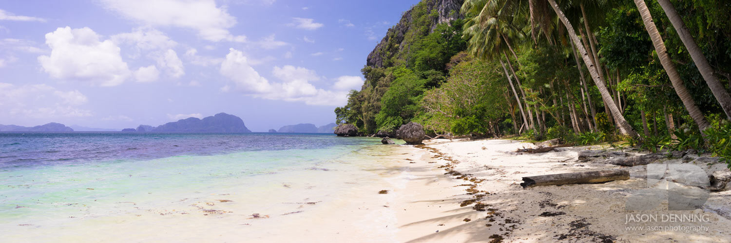 Deserted beach in palawan philippines