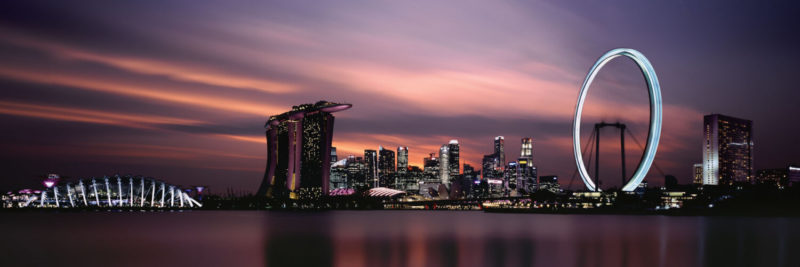 Singapore City sunset