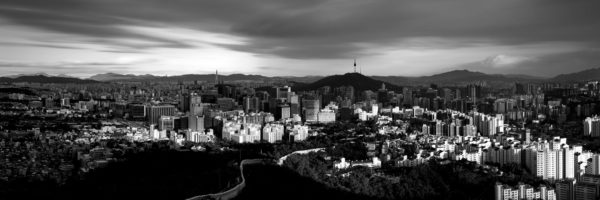 panorama of Seoul city in South Korea