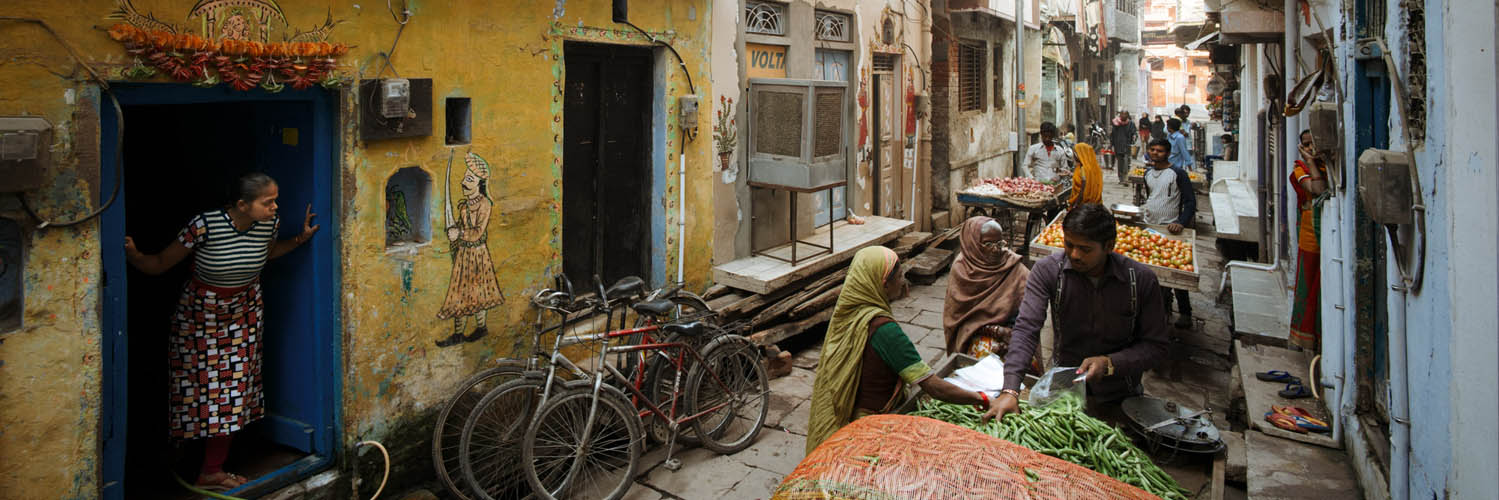 Local india street scene