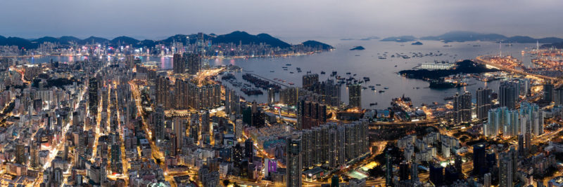 Kowloon panoramic cityscape