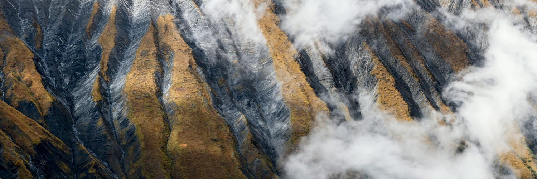 Abstract mountain texture