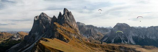 Seceda peak in the dolomites, Italy