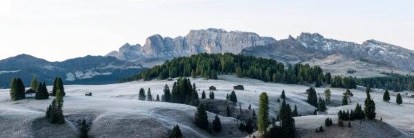 Alpe di suisi dolomites frost