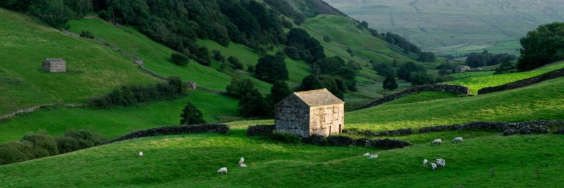North Yorkshire dales scene in England
