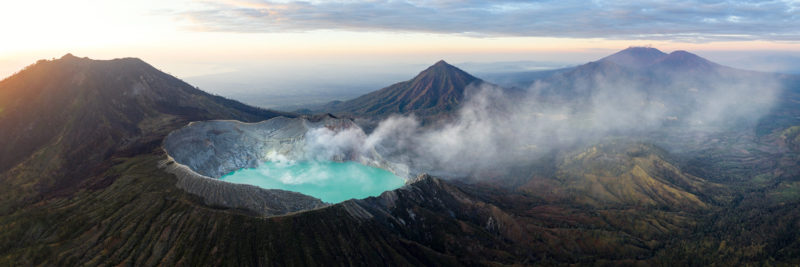 Amazing Mount Ijen Indonesia Aerial