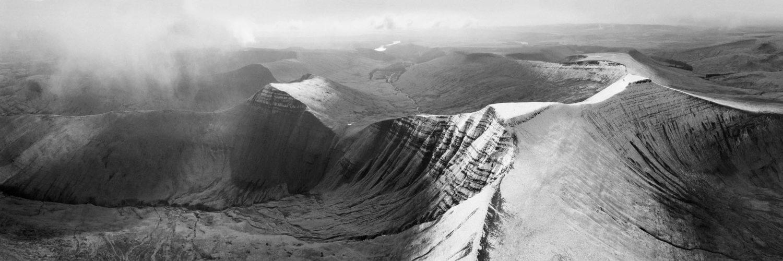panoramic aerial print of Wales