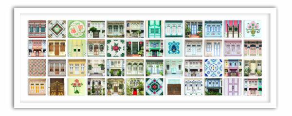 Singapore shophouse collage