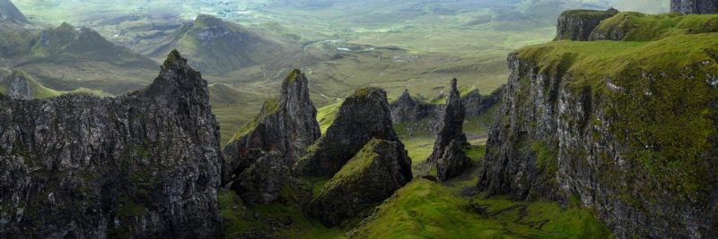 a panoramic print above the Quiraing in the isle of Skye