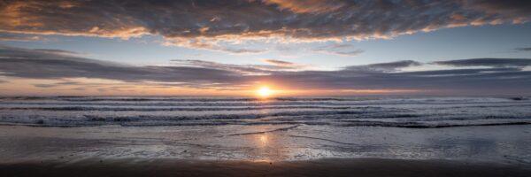 Dawn on an English beach