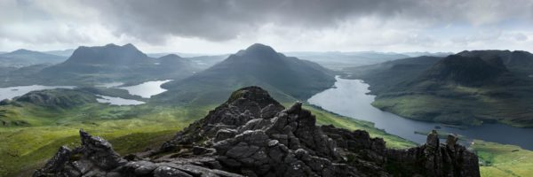 Panoramic print of from Stac Pollaidh peak in Scotland