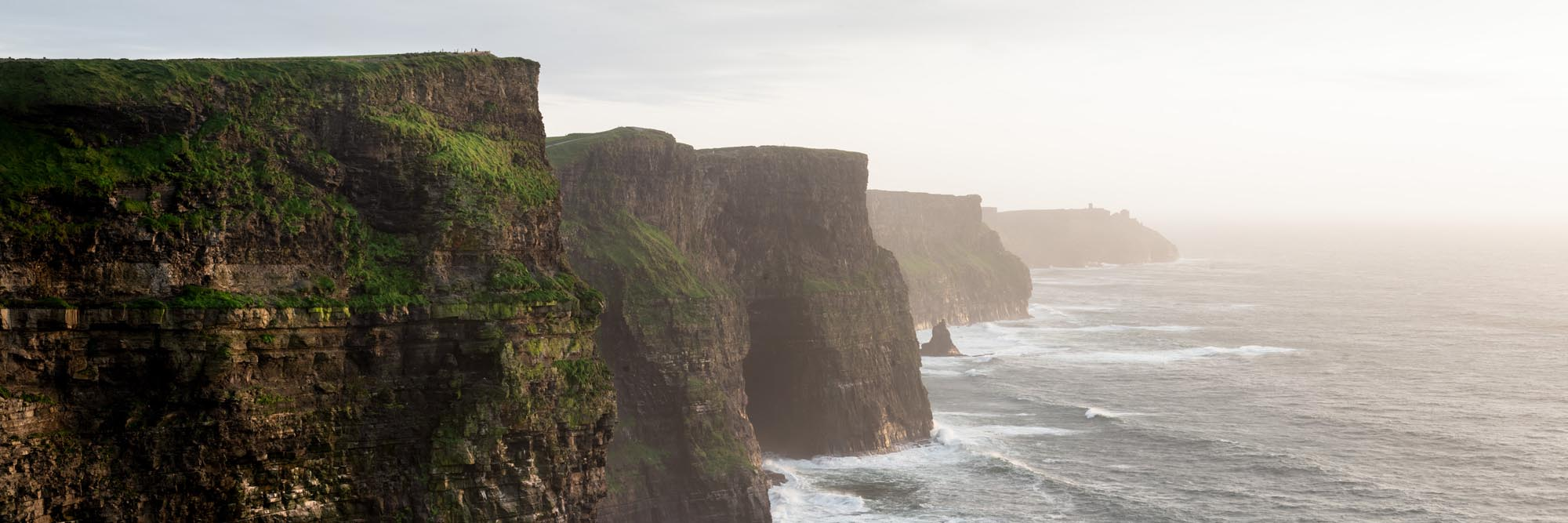 a panoramic print of the cliffs of Moher