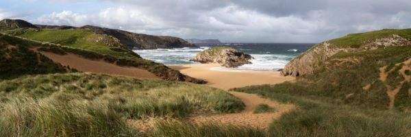 panoramic print of murder hole beach in Ireland