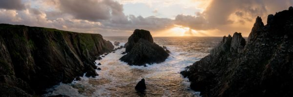 panoramic print of Malin Head at sunset