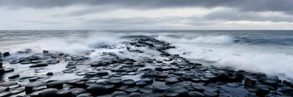 panoramic print of the giant's causeway in Northern Ireland