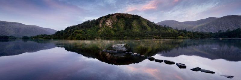 panoramic print of glanmor lake in the beara peninsula