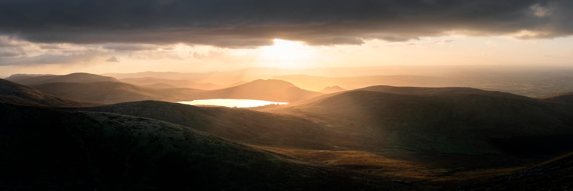 Mourne Mountains at sunset