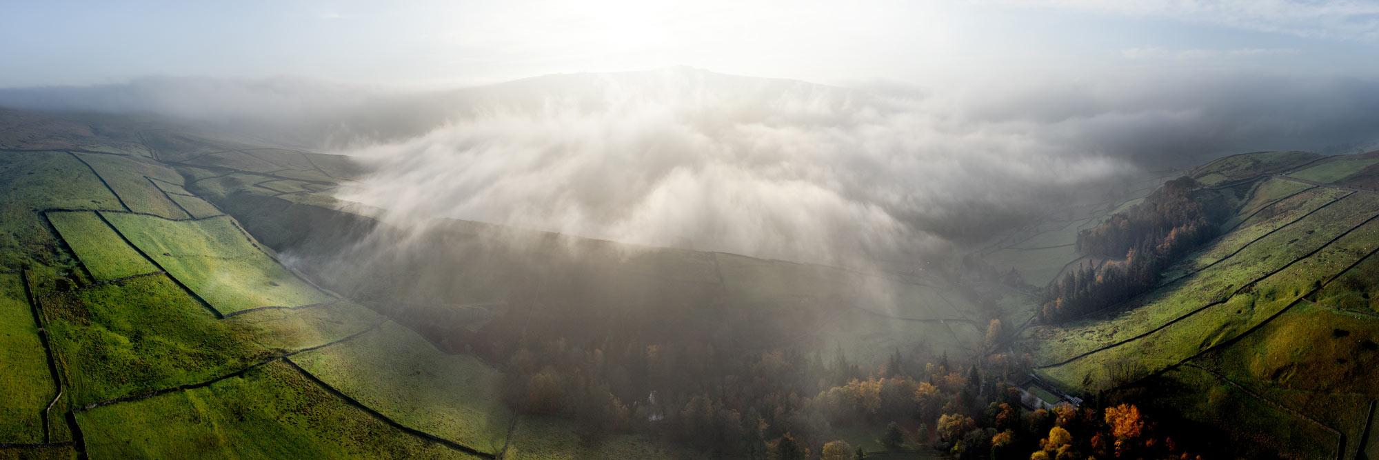 panoramic print of the Yorkshire Dales