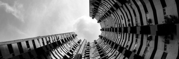 panoramic print of pearl bank in Singapore