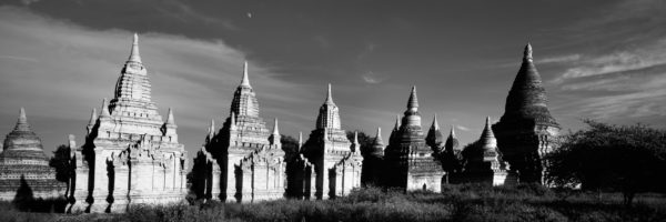 Panoramic print of the temples in Bagan Myanmar