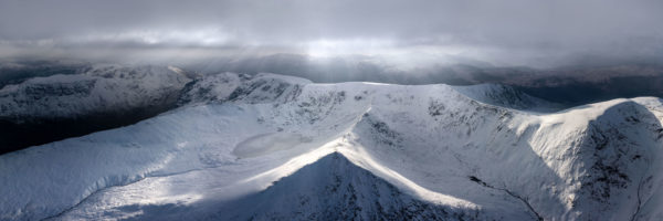 Lake District mountains in snow